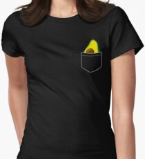 Pocket Avocado Womens Fitted T-Shirt