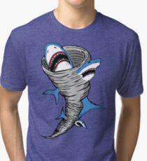 Shark Tornado Tri-blend T-Shirt