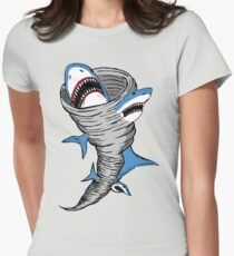Shark Tornado Women's Fitted T-Shirt