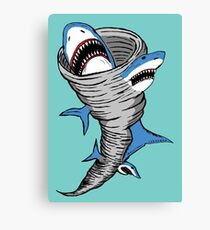 Shark Tornado Canvas Print
