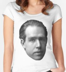 Niels Bohr floating head - blanche Women's Fitted Scoop T-Shirt