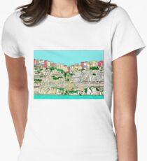Bonifacio in Corsica Women's Fitted T-Shirt