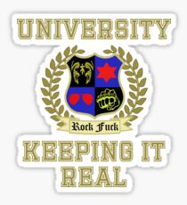 NSP University of Keeping it Real  Sticker