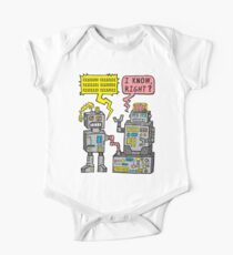 Robot Talk Short Sleeve Baby One-Piece