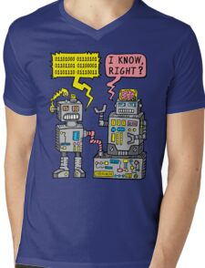 Robot Talk Mens V-Neck T-Shirt