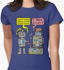 Robot Talk Women's Fitted T-Shirt