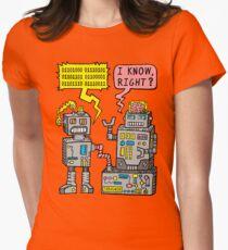 Robot Talk Womens Fitted T-Shirt