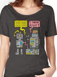 Robot Talk Women's Relaxed Fit T-Shirt