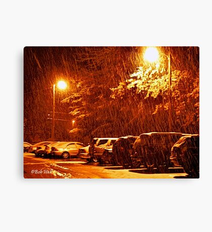 """""""A Snowy Evening in Knoxville"""" (a series, no.2) Canvas Print"""