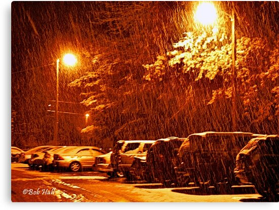 """""""A Snowy Evening in Knoxville"""" (a series, no.2) by © Bob Hall"""