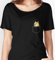 Pocket Doge Women's Relaxed Fit T-Shirt