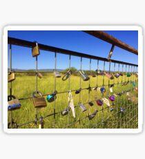 locks of love, marfa, texas Sticker