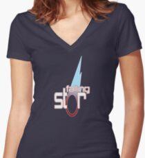 Falling Star Title Logo Women's Fitted V-Neck T-Shirt