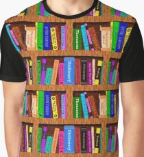Library Bookshelf Background Pattern for Readers Graphic T-Shirt