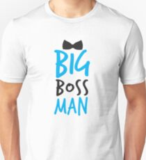 BIG Boss man with a Black Bow Tie T-Shirt