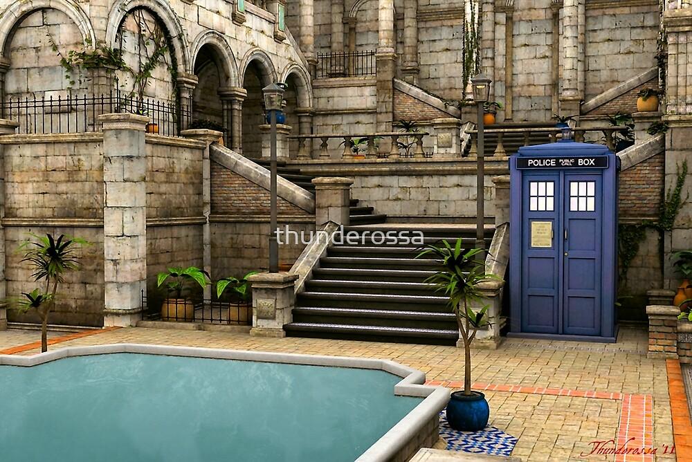 Courtyard Tardis by thunderossa