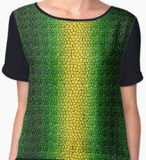 Green Dragon Scale Women's Chiffon Top