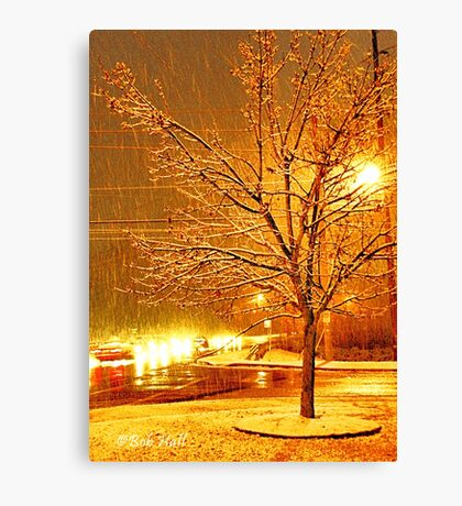 """A Snowy Evening in Knoxville"" (a series, no.3)... prints and products Canvas Print"