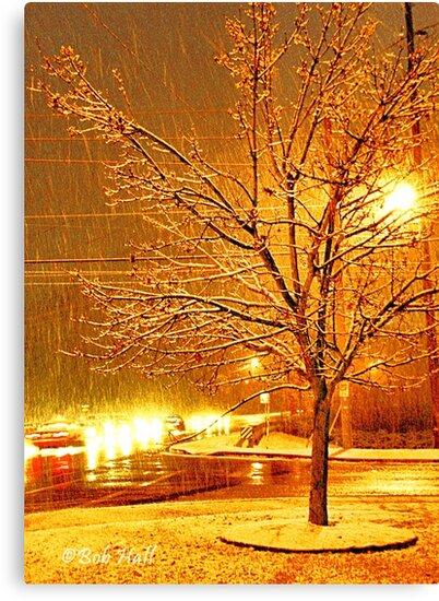 """""""A Snowy Evening in Knoxville"""" (a series, no.3)... prints and products by Bob Hall©"""