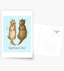 Bedeutender Otter Postkarten