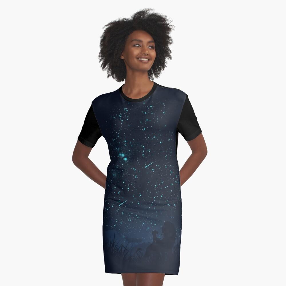 Unter den Sternen T-Shirt Kleid