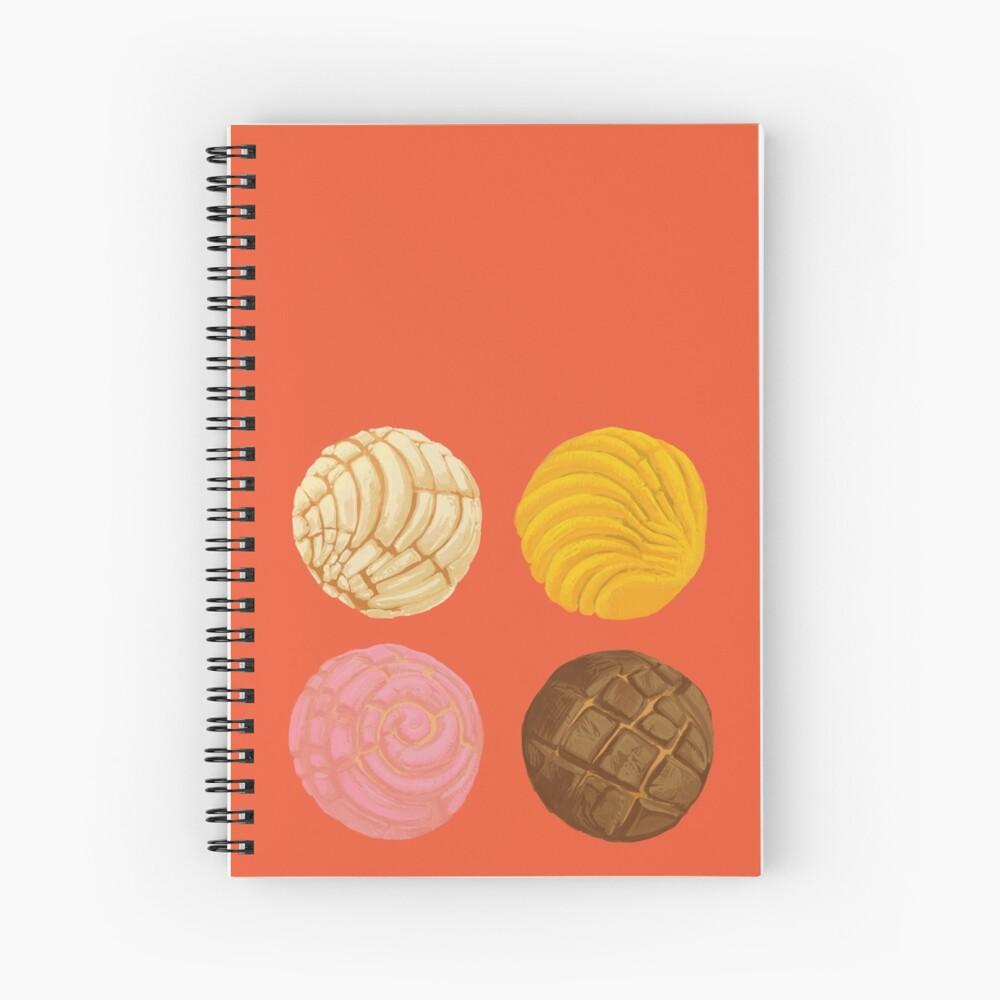 Concha - pan de huevo  Spiral Notebook