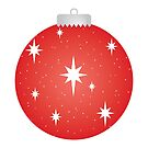 Christmas Ornament - Red by Haley Bengtson