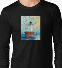 Solomons Lump Lighthouse MD Nautical Chart Peek T-Shirt