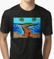 HOLE IN ONE ..AND I'M OFF....... Tri-blend T-Shirt