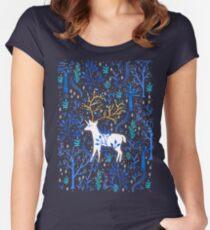 Deericorn In Blue Women's Fitted Scoop T-Shirt