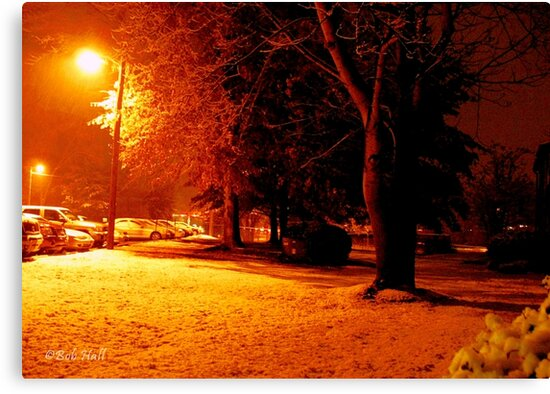 """""""A Snowy Evening in Knoxville"""" (a series, no.4) by © Bob Hall"""