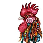 Tribal Rooster Design by lissantee