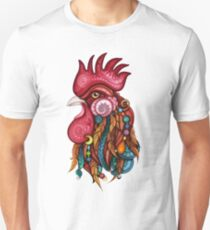 Tribal Rooster Design Unisex T-Shirt