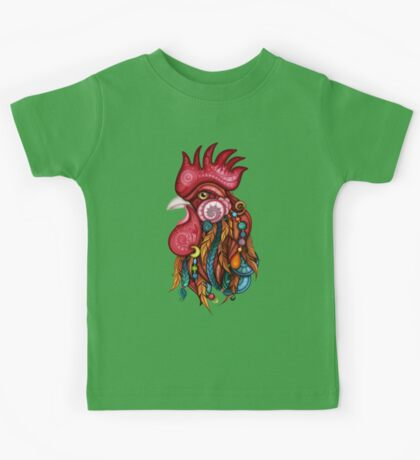 Tribal Rooster Design Kids Clothes