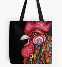 Tribal Rooster Design Tote Bag