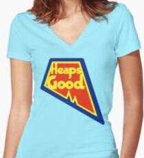 Heaps Good Again Women's Fitted V-Neck T-Shirt