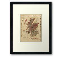 Vintage Geological Map of Scotland Framed Print