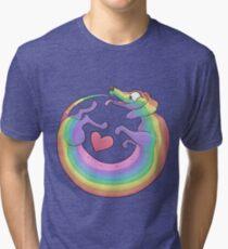 Rainbow Roll by Diversity Dachshund Tri-blend T-Shirt