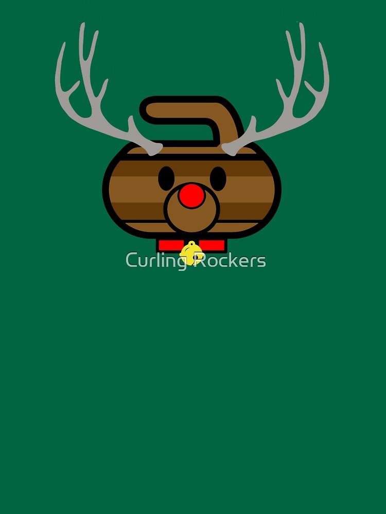 Rudolph Rocks! - Curling Rockers by bubgum