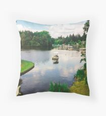 Sailing in Efteling Park Throw Pillow