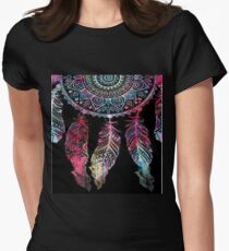 featured black mandala Women's Fitted T-Shirt