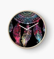 featured black mandala Clock