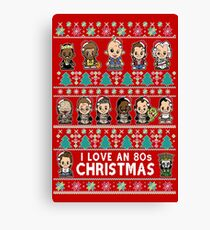 lil 80s Movie Christmas Jumper Canvas Print