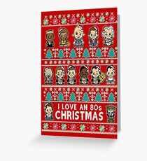 lil 80s Movie Christmas Jumper Greeting Card