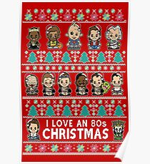 lil 80s Movie Christmas Jumper Poster