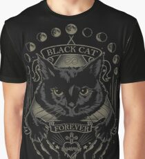 Black Cat Cult Graphic T-Shirt