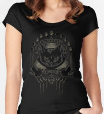 Black Cat Cult Women's Fitted Scoop T-Shirt