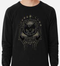 Schwarze Katze Kult Leichtes Sweatshirt