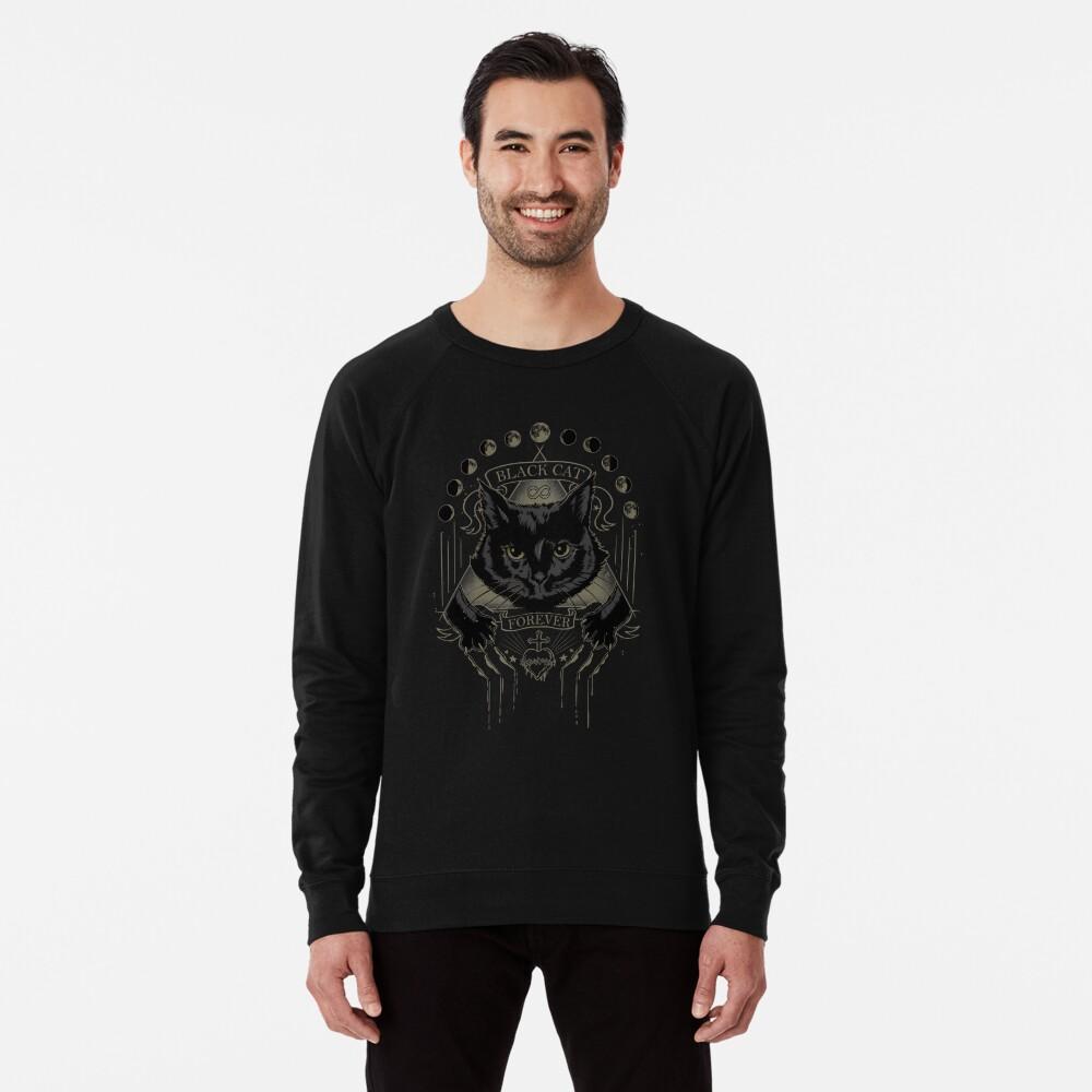 Schwarze Katze Kult Leichter Pullover