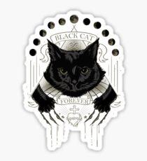 Black Cat Cult Sticker